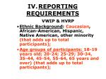 iv reporting requirements29