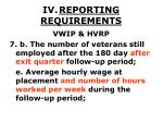iv reporting requirements39