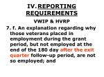 iv reporting requirements40
