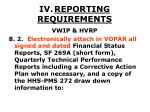 iv reporting requirements44
