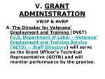 v grant administration