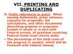 vii printing and duplicating49