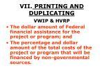vii printing and duplicating50