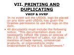 vii printing and duplicating53