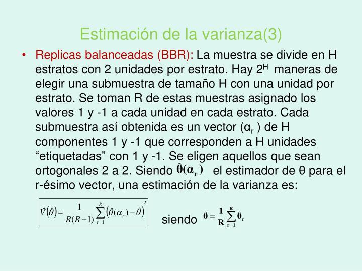 Estimación de la varianza(3)