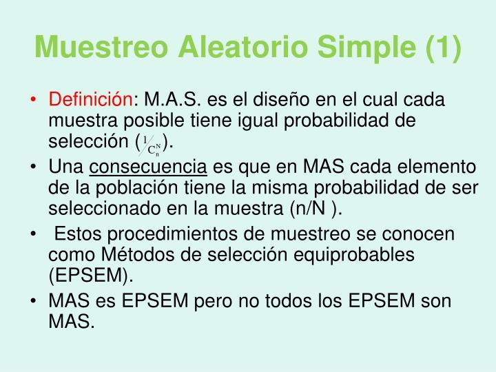 Muestreo Aleatorio Simple (1)