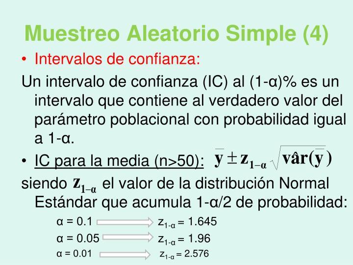 Muestreo Aleatorio Simple (4)
