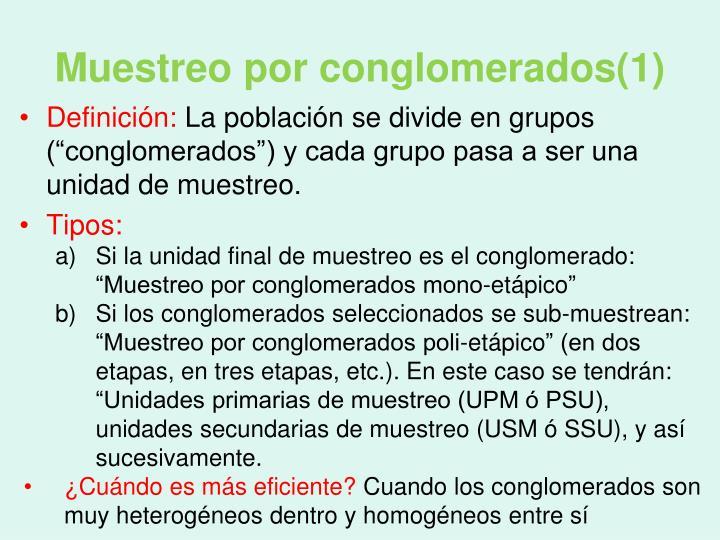 Muestreo por conglomerados(1)
