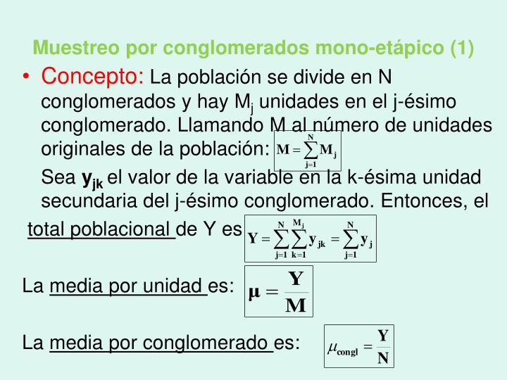 Muestreo por conglomerados mono-etápico (1)