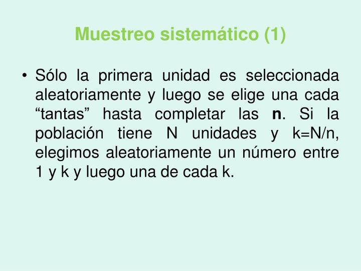 Muestreo sistemático (1)