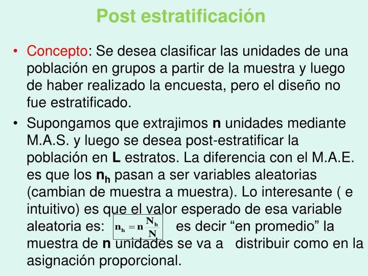 Post estratificación