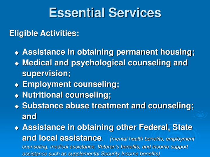 Essential Services
