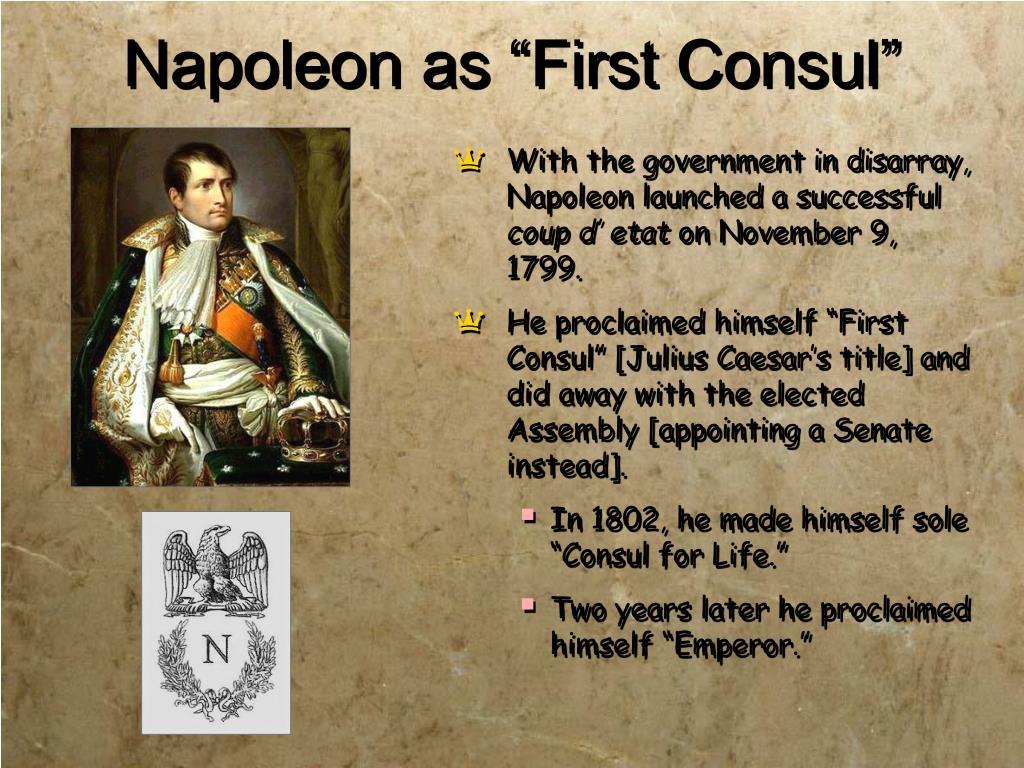 "Napoleon as ""First Consul"""