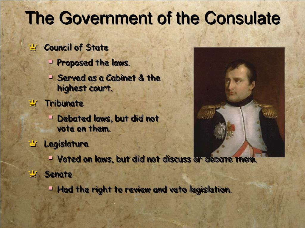 The Government of the Consulate