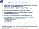 aggressive proactive preemptive operations