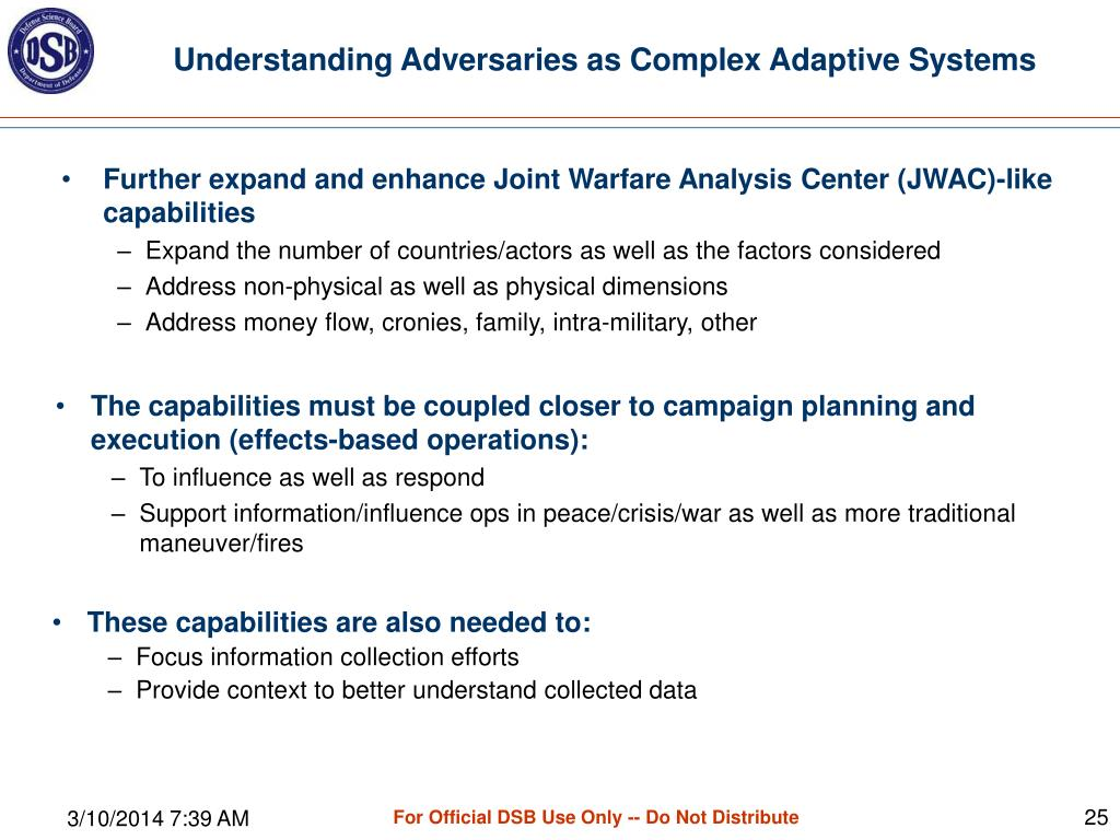 Understanding Adversaries as Complex Adaptive Systems