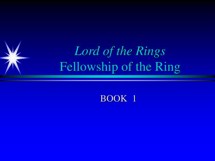 lord of the rings fellowship of the ring n.