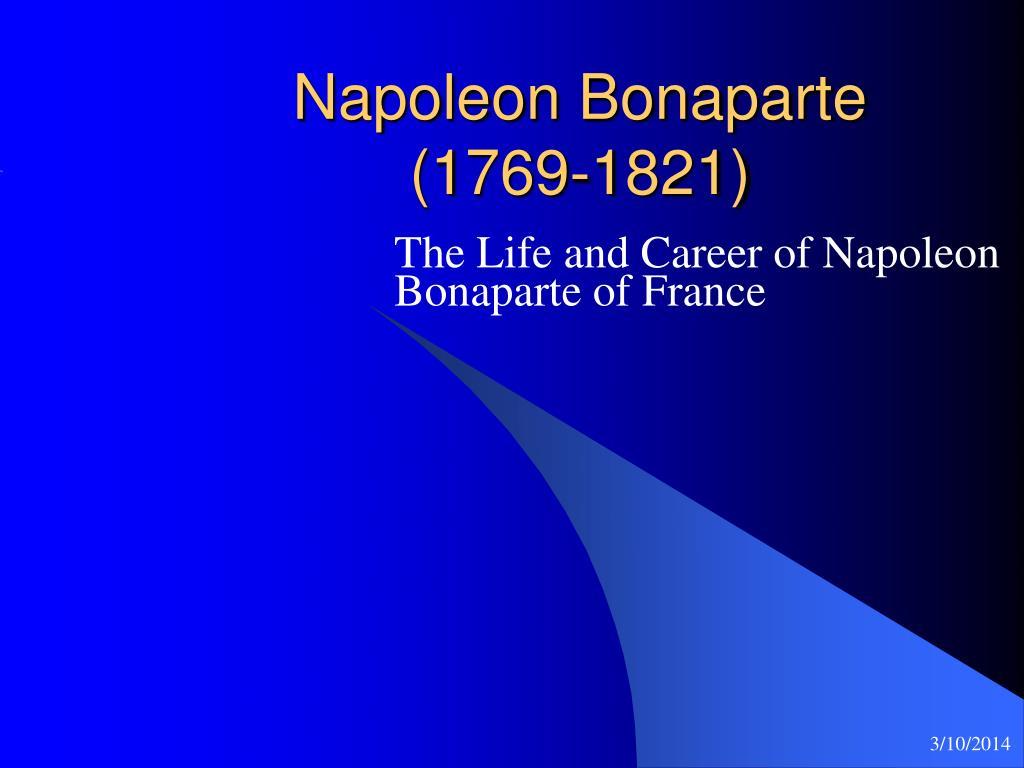 napoleon bonaparte 1769 1821 l.