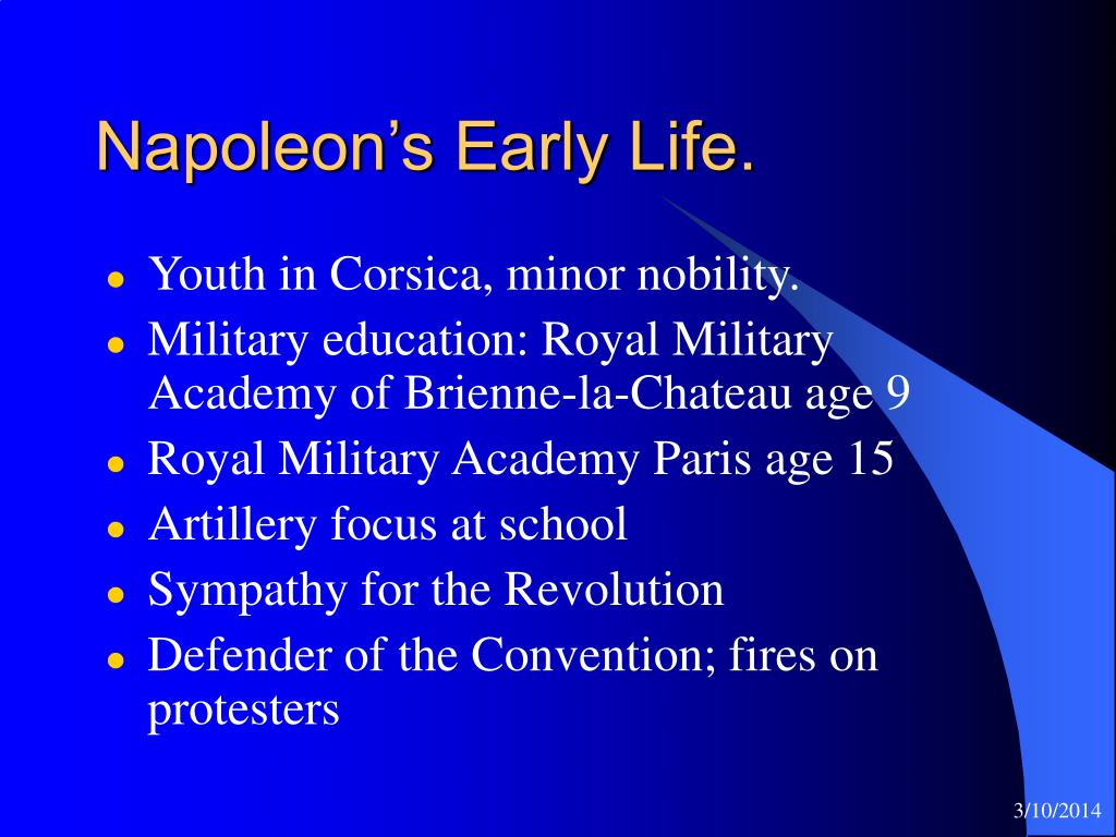 Napoleon's Early Life.
