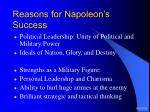 reasons for napoleon s success