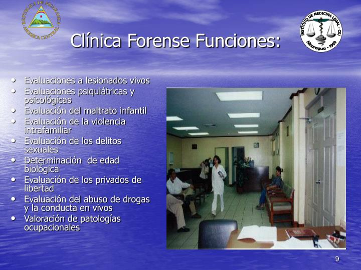 Clínica Forense Funciones: