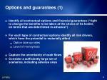 options and guarantees 1