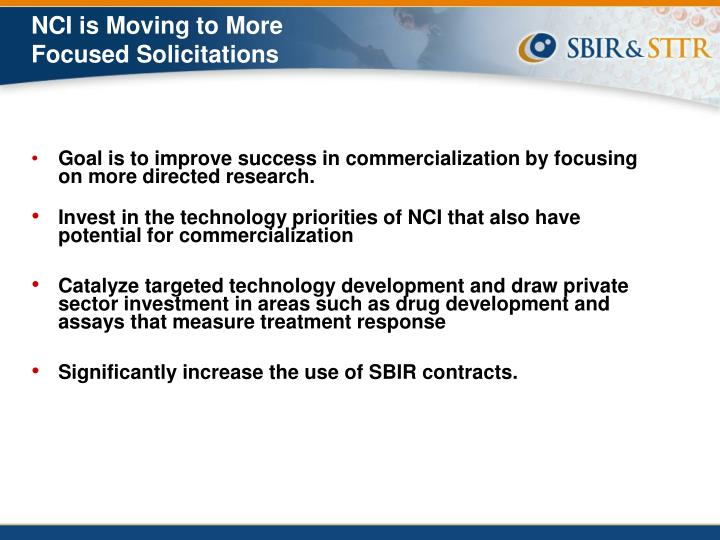 NCI is Moving to More