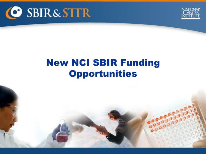 New NCI SBIR Funding Opportunities