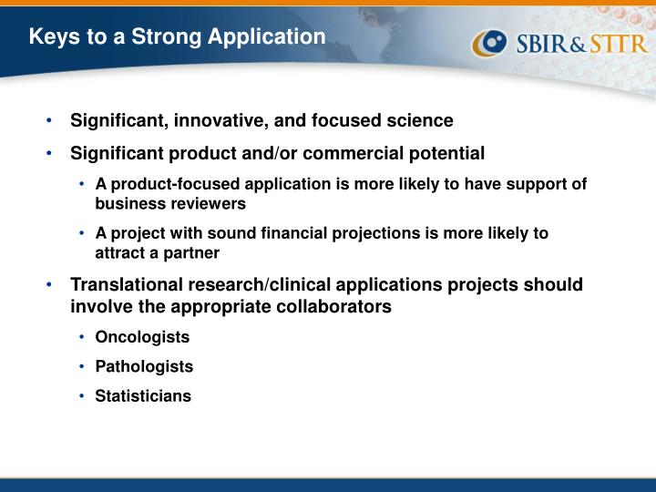 Keys to a Strong Application