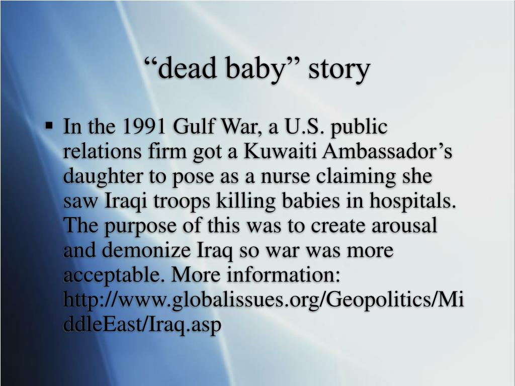 """""""dead baby"""" story"""