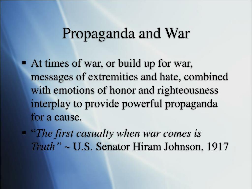 Propaganda and War