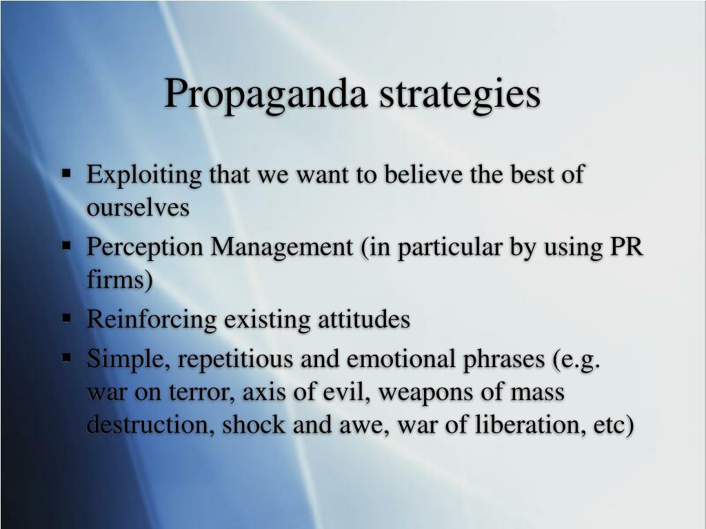 Propaganda strategies