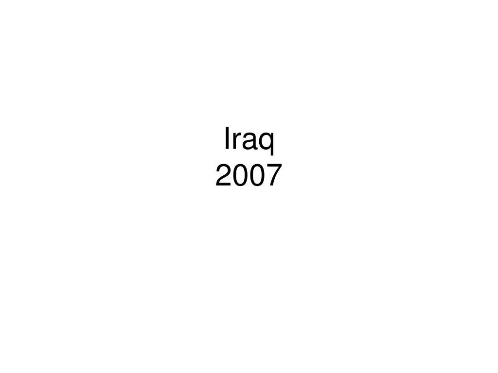 iraq 2007 l.