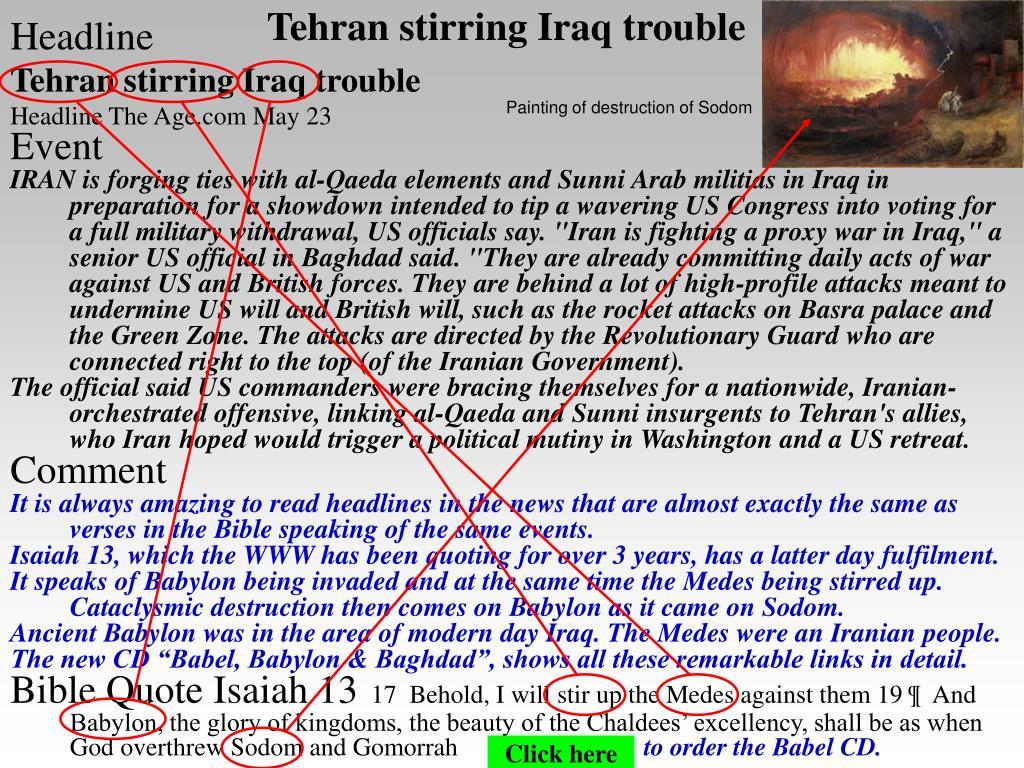 Tehran stirring Iraq trouble