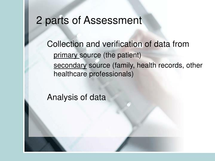 2 parts of Assessment