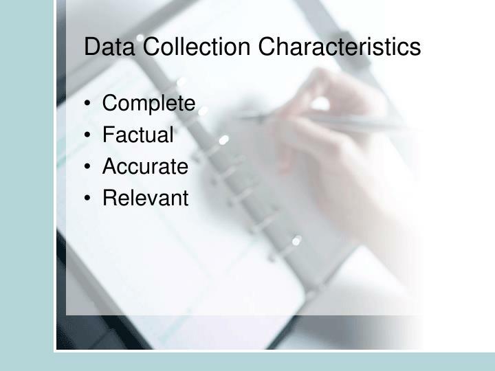 Data Collection Characteristics