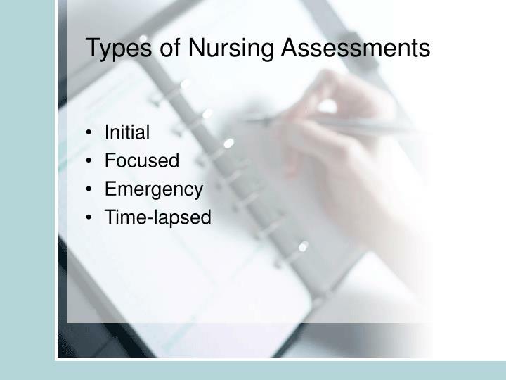 Types of Nursing Assessments