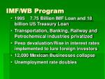 imf wb program