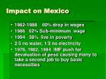 impact on mexico