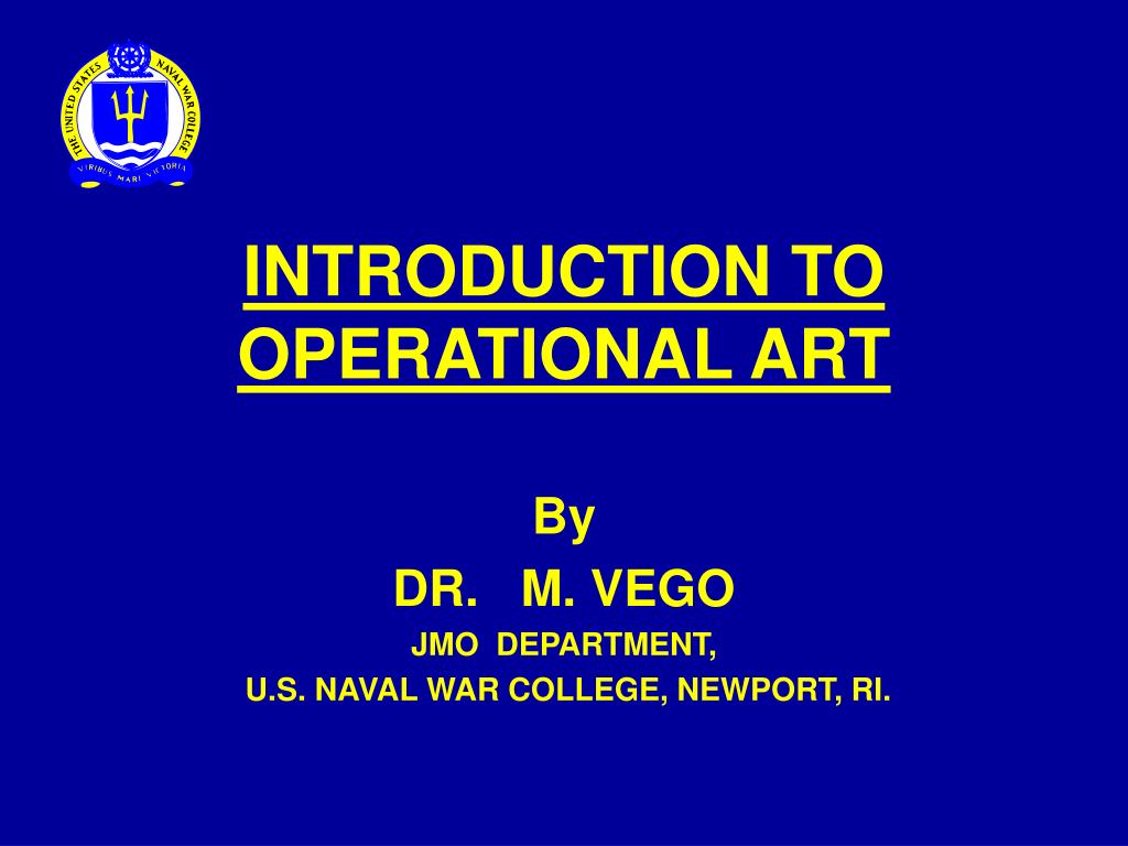 introduction to operational art l.