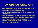 on operational art