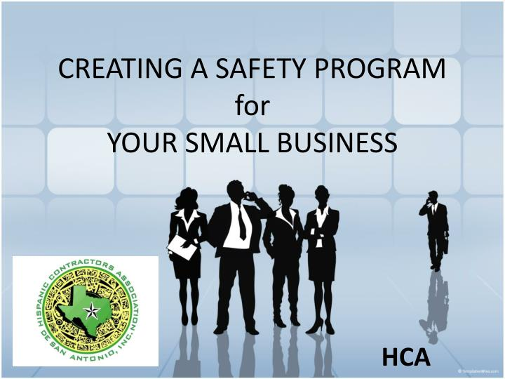 creating a safety program for your small business n.