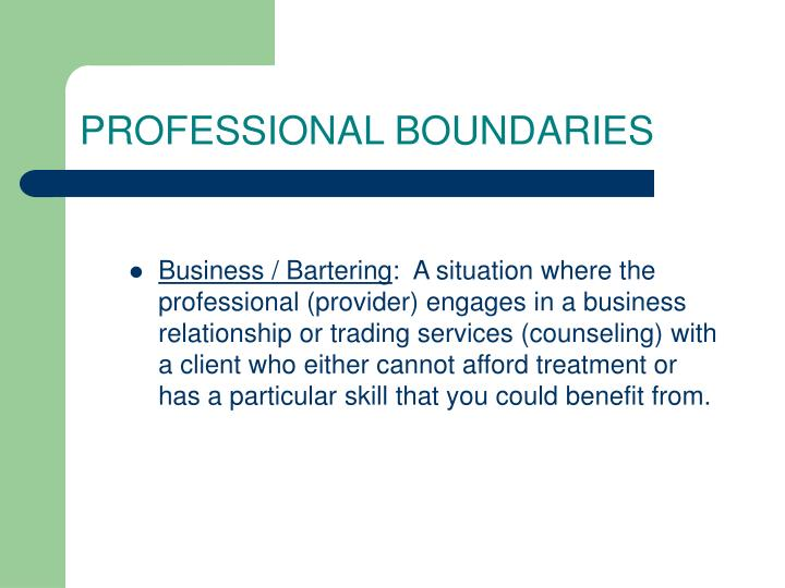 professional boundary How to maintain professional boundaries in social work maintaining professional boundaries in social work is essential to helping your clients and upholding the standards of your profession.