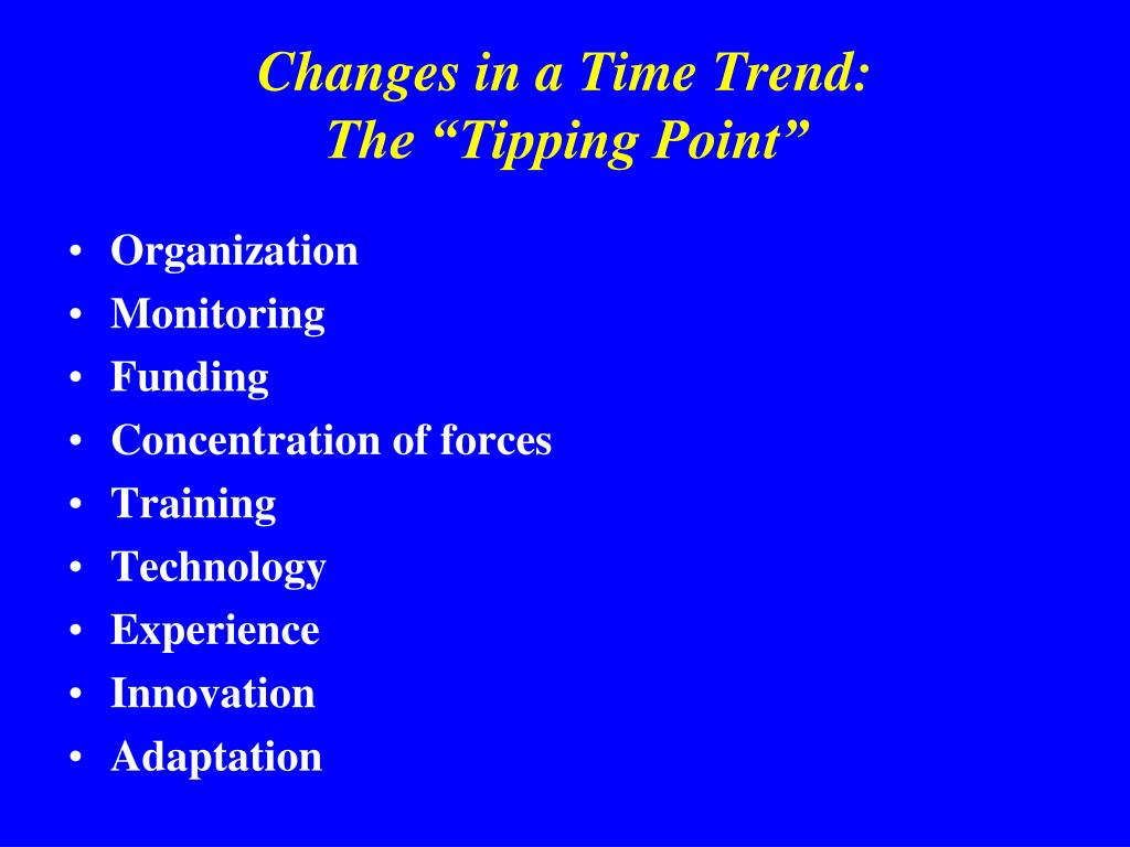 Changes in a Time Trend: