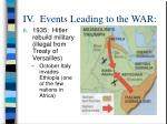 iv events leading to the war11