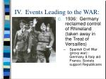 iv events leading to the war12