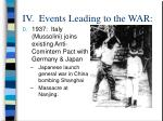 iv events leading to the war13