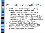 iv events leading to the war14