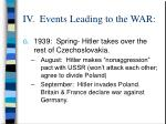iv events leading to the war16