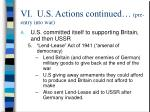 vi u s actions continued pre entry into war25